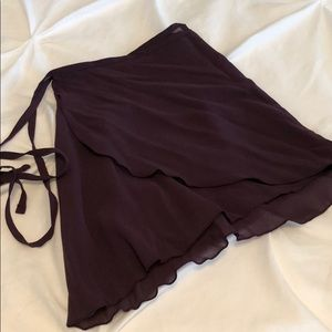 Purple wrap ballet skirt